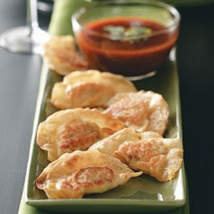 Shrimp Pot Stickers with Ginger-Lemon Sauce Recipe