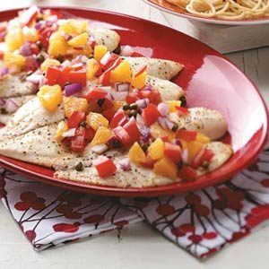 Tilapia with Tomato-Orange Relish Recipe