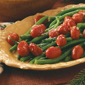 Green Beans with Roasted Grape Tomatoes Recipe