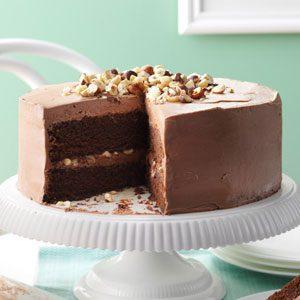 Mocha Hazelnut Torte Recipe | Taste of Home
