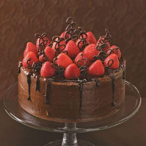 Chocolate-Strawberry Celebration Cake Recipe