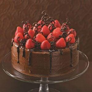 Taste Of Home Chocolate Strawberry Celebration Cake