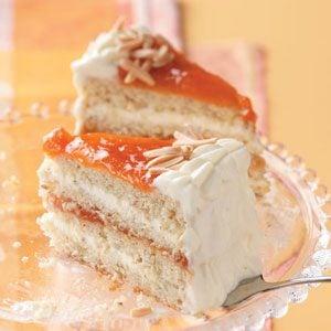 Apricot Almond Torte Recipe photo by Taste of Home