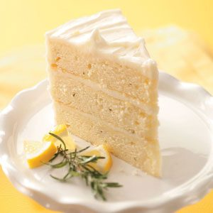 Lemon-Rosemary Layer Cake Recipe