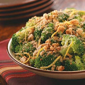 Lemon Crumb-Topped Broccoli Recipe