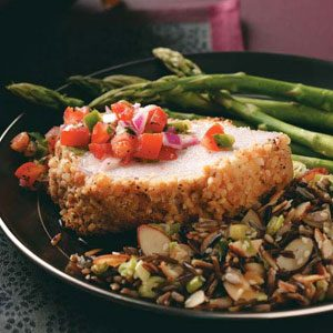 Almond-Crusted Pork Loin Recipe
