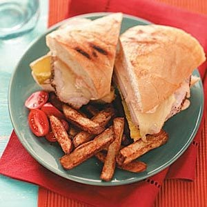 Pork Panini & Spiced Fries