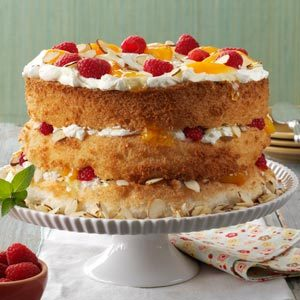 Apricot-Raspberry Angel Torte Recipe