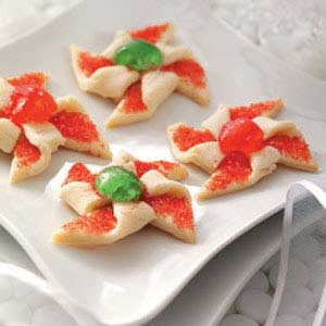 Poinsettia Cookies Recipe