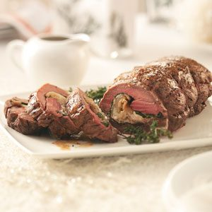 Goat Cheese & Pear Stuffed Tenderloin Recipe