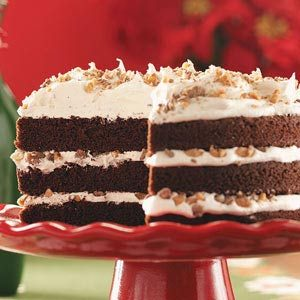Toffee-Mocha Cream Cake Recipe