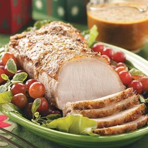 Holiday Pork Roast with Ginger Gravy Recipe