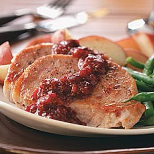 Cranberry-Kissed Pork Chops For 2 Recipe