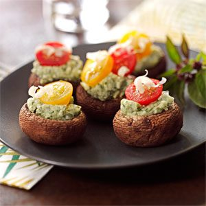 Stuffed Asiago-Basil Mushrooms Recipe