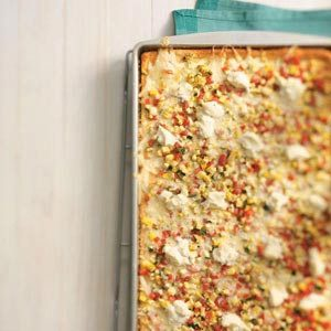Three-Cheese Veggie Pizza Recipe