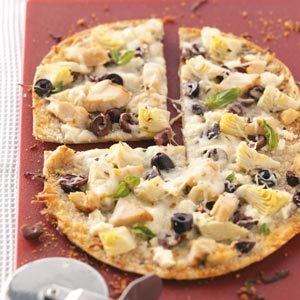 Greek Flatbread Pizzas Recipe