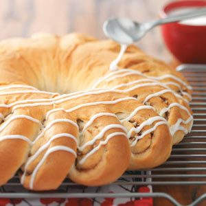 Christmas Wreath Bread Recipe