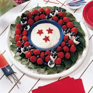 Sweet Liberty Fruit Wreath Recipe