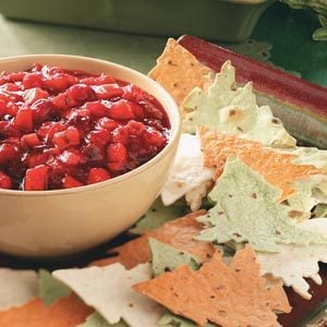 Cranberry-Mango Salsa with Tree Chips Recipe