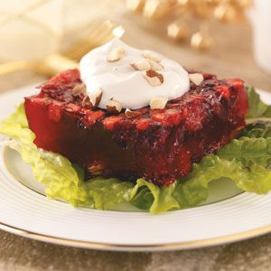 Spiced Cranberry-Chutney Gelatin Salad Recipe