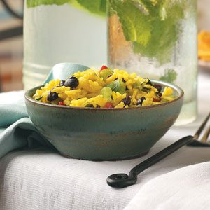 Yellow Rice & Black Bean Salad Recipe