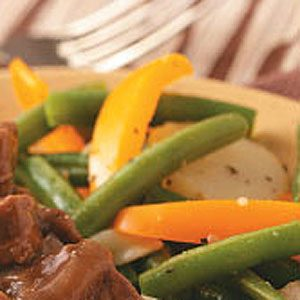 Colorful Green Bean Medley Recipe