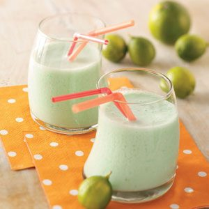 Lime Milk Shakes for Two Recipe