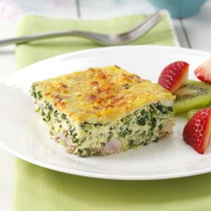 Scrambled Egg Spinach Casserole Recipe