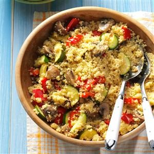 Dijon Veggies with Couscous Recipe
