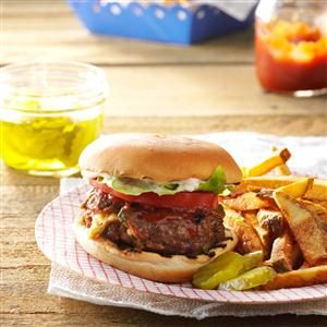Herb & Cheese-Stuffed Burgers Recipe