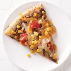Two-Bean Veggie Pizza Recipe