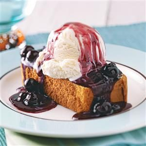 Blueberry Shortcake Sundaes Recipe