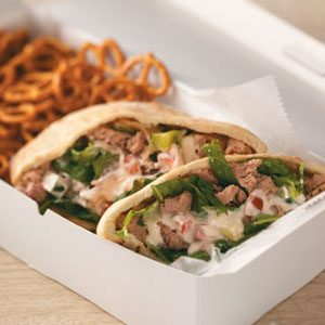 Gyro-Style Turkey Pitas Recipe