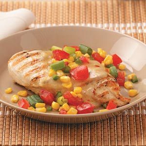 Chicken with Garden Salsa for Two Recipe