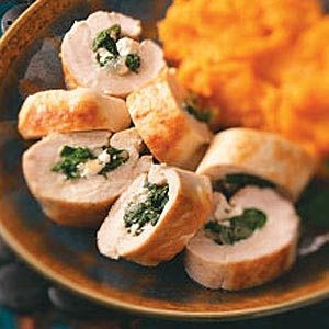 Lemony Spinach-Stuffed Chicken Breasts for Two Recipe