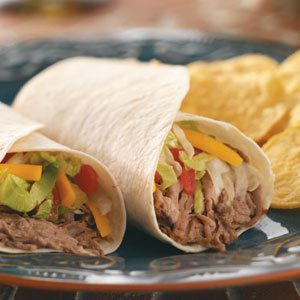 Slow-Cooked Green Chili Beef Burritos Recipe