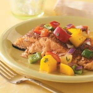 Salmon with Caribbean Salsa Recipe