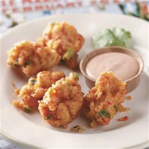 Crawfish Beignets with Cajun Dipping Sauce