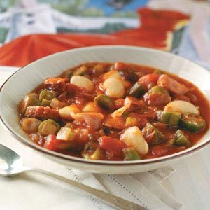 Okra and Butter Bean Stew