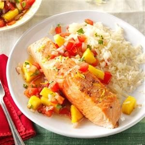 Citrus Salmon Fillets with Salsa Recipe