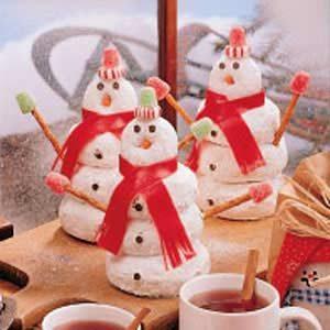 Doughnut Snowman Recipe