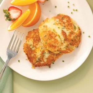Au Gratin Potato Pancakes Recipe