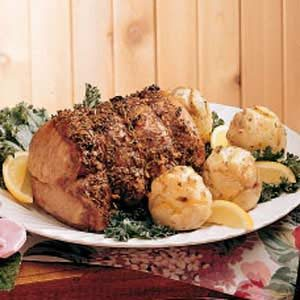 Roasted Pork and Potato Roses