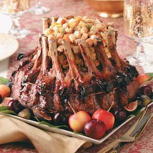 Fruit-Stuffed Crown Roast Recipe