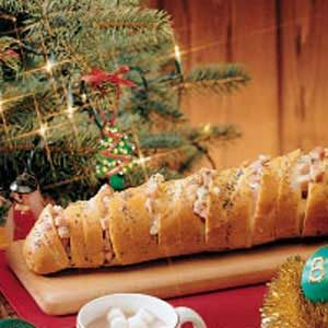 Festive Ham N Cheese Bread Sandwich Recipe