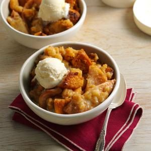 Toffee-Pear Crisp Bread Pudding Recipe