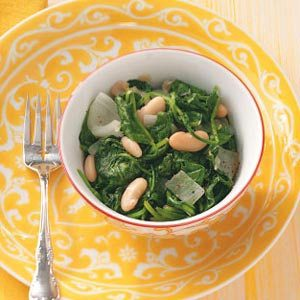 Beans & Spinach Recipe