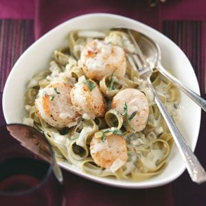 Scallops in Sage Cream for Two Recipe