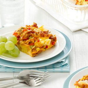 Bacon & Cheddar Strata Recipe