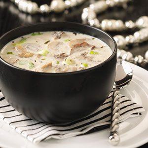 Creamy Garlic & Mushroom Soup Recipe photo by Taste of Home